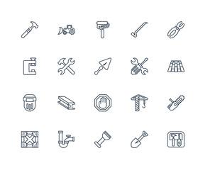 Toolbox, Spade tool, Bolster, Pipe, Joist, Plier, Screwdrivers,
