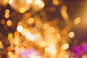 golden lights bokeh background, Chrismas lights bokeh.