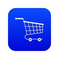 Cart icon digital blue for any design isolated on white vector illustration