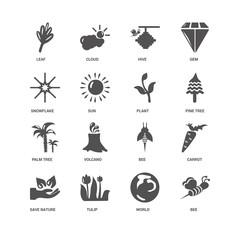 Bee, Pine tree, Plant, Save nature, Carrot, Leaf, Snowflake, Pal