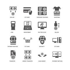 Payment method, Investment, Dollar, Cit card, Security, Cash mon