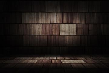 wooden interior room;