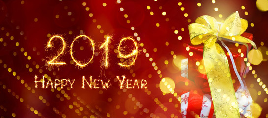 Wide Angle holiday web banner Happy New Year 2019