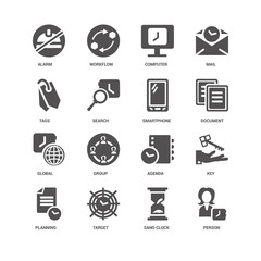 Person, Document, Smartphone, Planning, Key, Alarm, Tags, Global