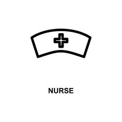 nurse sign simple line icon