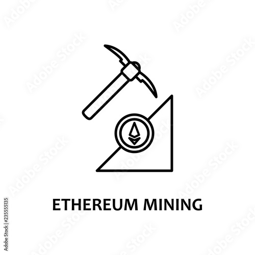 ethereum mining icon with name  Element of crypto currency