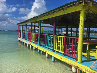 Beach bar in Anegada British Virgin Islands