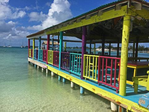 Beach bar in Anegada British Virgin Islands