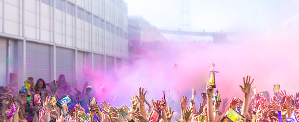Eastern Festival of Holi colors festival