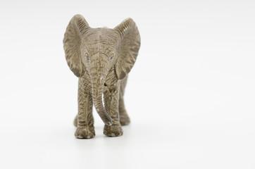 Toy elephant isolated on white background