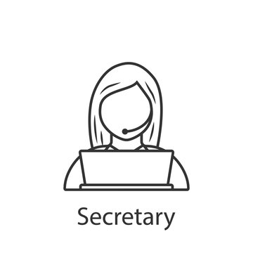 Secretary icon. Element of profession avatar icon for mobile concept and web apps. Detailed Secretary icon can be used for web and mobile
