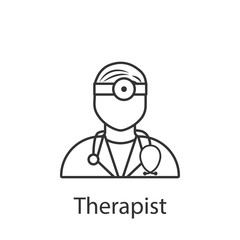 Therapist icon. Element of profession avatar icon for mobile concept and web apps. Detailed Therapist icon can be used for web and mobile