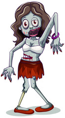Zombie character on white background