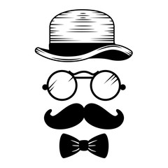 set style hipster accessories icons