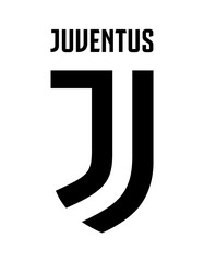 Juventus, Italy FC Best, 2001 Vector illustration of football club logo white background