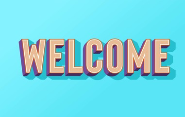 Welcome word with megaphone vector illustration concept, can use for, landing page, template, ui, web, mobile app, poster, banner, flyer