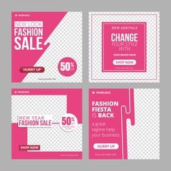 Editable Instagram Fashion Banner ad template