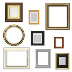 Picture and photo frames, interior blank borders