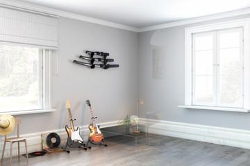 E-Gitarren im Wohnzimmer (Vision)
