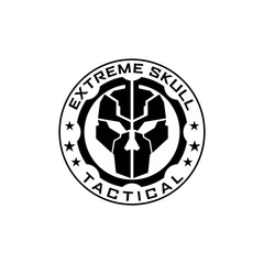 Extreme tactical gear skull logo