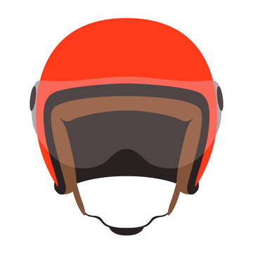 motorcycle helmet vector illustration ,flat style