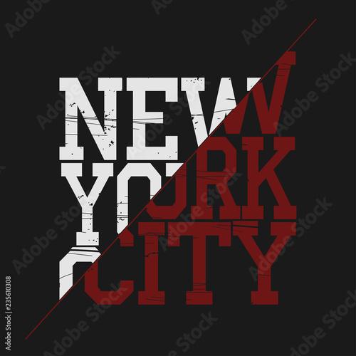 31641a3d New York Brooklyn Sport wear typography emblem, t-shirt print, athletic  apparel design vector illustration team