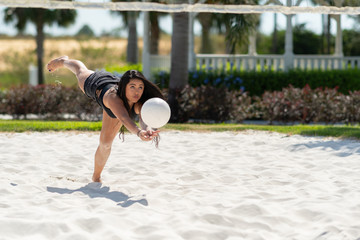 Teen Girl Playing Volleyball