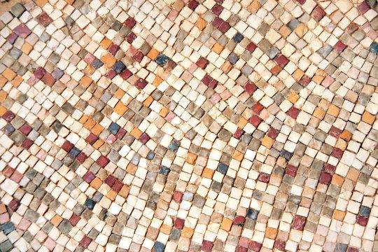 Detail of ancient byzantine natural stone tile mosaics
