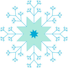 Blue Star, Snowflake, Seamless Pattern, Tile