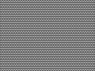 Abstract seamless pattern with circles. Modern black and white texture. Geometric background