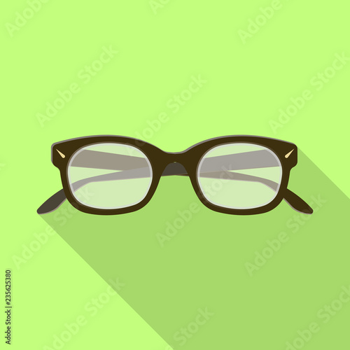 fa1eadabe3e3 Isolated object of glasses and frame symbol. Collection of glasses and  accessory stock vector illustration.