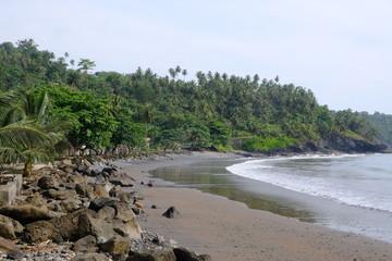 Sao Tome coastline at Ribero Afonso