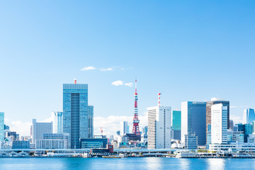 (東京都ー都市風景)晴海ふ頭から望む竹芝桟橋側風景5