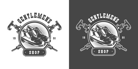 Vintage gentleman club emblem