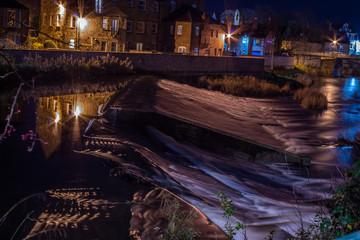 Morpeth, at night.