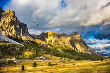 Travel in the pass Faltsarego