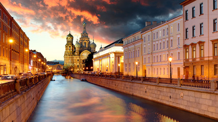 Russia, St. Petersburg - Church Saviour on Spilled Blood Fototapete