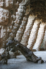 Abstract arches at Parc Guell, Barcelona, Spain