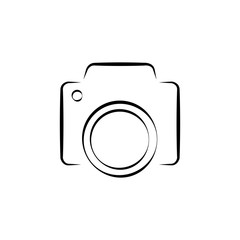 Camera icon vector illustration.