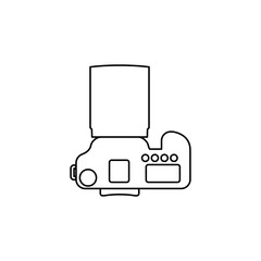 Camera icon vector illustration.