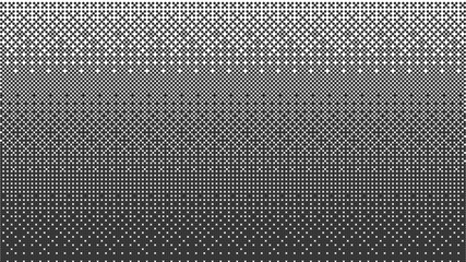 Halftone gradient pattern horizontal vector illustration. Ornament pattern. Black white dotted background. Fabric texture. Geometric background.