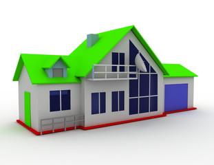 cottage concept. estate . 3d rendered illustration