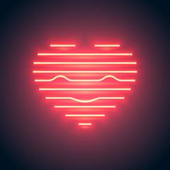 neon line heart smile