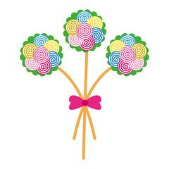 Rose Flower Lollipop abstract nature vector illustration concept design
