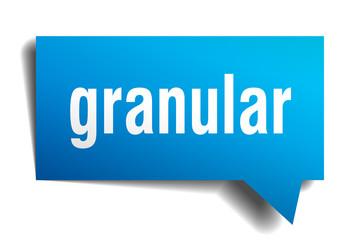 granular blue 3d speech bubble