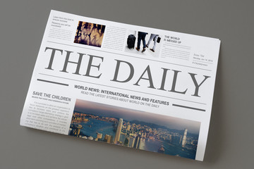 The daily news newspaper mockup