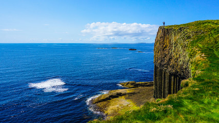 Rise to the top of the island of Staffa