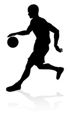A basketball player silhouette sports illustration