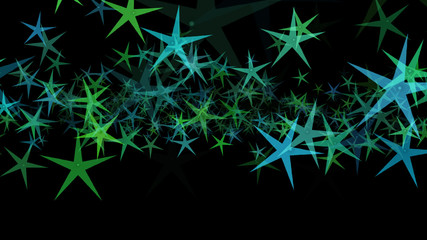 Background of multi-colored stars. Abstract background pattern.