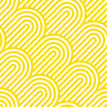 Vector yellow geometric pattern. Seamless pattern with rounded shapes.